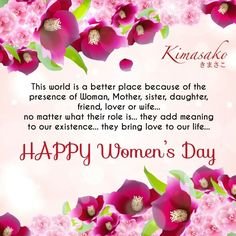 Proud to be a Woman...   Happy Women's Day.