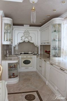 58 Ideas For Kitchen Cabinets Refinish Dining Rooms Shabby Chic Kitchen, Home Decor Kitchen, Kitchen Interior, Home Interior Design, Interior Modern, Luxury Kitchen Design, Luxury Kitchens, Home Kitchens, French Country Kitchens