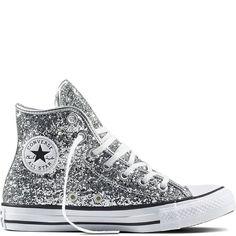 Chuck Taylor All Star Glitter Pure Silver/White/Black. Glitter  ConverseGlitter LaarzenBruid SchoenenTrouwschoenenChuck ...