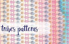 Tribal Watercolour Pattern by MARSOSE on @creativemarket
