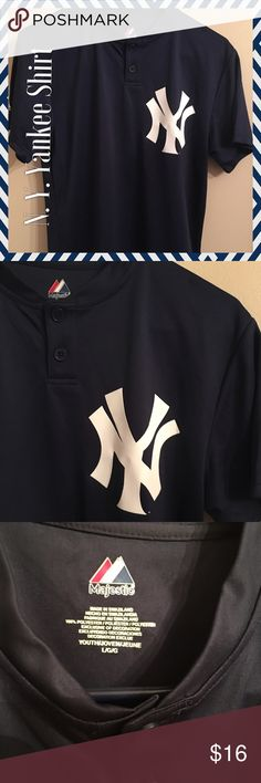 NEW YORK Yankee Shirt NEW YORK Yankee Shirt  New condition. We don't even know why or how we have this shirt. Lol. We're soccer ⚽️ fans. Tops