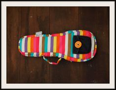 m e w - Colorful Pastel Stripe Ukulele Bag BACKPACK STRAP (Soprano Size) Custom made on Etsy, $42.00