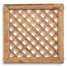 Shanxi, circa 1900 This square, carved window panel has a lovely criss-cross pattern, hand carved and set with a flower at the centre of each join. Once used as either an internal of external window panel in a Chinese home, today it would add a focal point hung on a wall. #ChineseWallArt