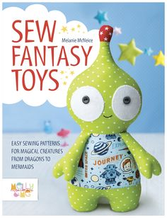 This is a collection of magical creatures from soft toy designer Melly McNeice. Friendly monsters, pretty mermaids and mystical unicorns make up part of this toy sewing pattern collection from Melly & Me, which will capture your imagination as much as your children's.