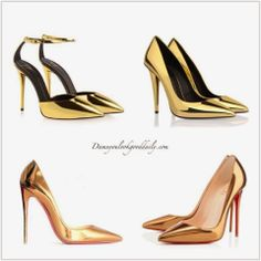 Spring Fashion Trends 2014-Gold Pointy Toe Heels
