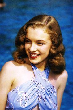 Marilyn Monroe (Norma Jeane) by Richard C Miller, 1946.
