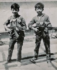 Viet Cong Child Soldiers.     With all the talk about liberty and equality the Viet Cong seldom mentioned that when things got hard and manpower was difficult to come by they would draft young children as guerrillas. These boys were enticed with promises of adventure and hundreds of such children were killed in battle. They are members of the Dong Rai Regiment (K-3). In 1968, the South Vietnamese held more than 1000 Communist guerrilla prisoners between the ages of 11 and 17.
