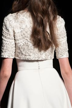Details at Ralph and Russo Couture F/W 2015 Launch your own makeup line. Frock Fashion, Couture Fashion, Runway Fashion, Fashion Dresses, Dress Indian Style, Indian Dresses, Indian Wedding Outfits, Indian Outfits, Indian Designer Outfits