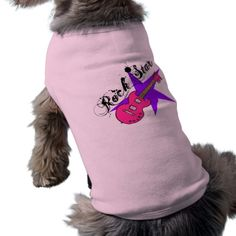 Dog & Owner Matching Rock Star Guitar Tees Pet Shirt #pet #clothing #petclothing I Love My Mum, Daddys Little Princess, Yorkie Dogs, Chihuahua, Sister Shirts, Brother Sister, Pink Dog, Pet Clothes, Dog Clothing