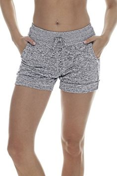 90 Degree By Reflex Activewear Lounge Shorts - Heather Grey Medium