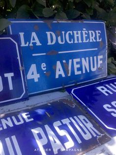 French Enamel Street Signs.  Repinned by www.mygrowingtraditions.com