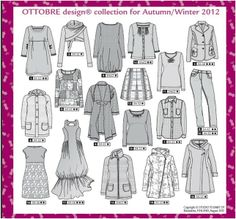 Sewing patterns, fabrics and more… Asymmetrical Coat, Wardrobe Makeover, Flat Sketches, Illustration Mode, Patterned Sheets, Technical Drawing, Pattern Drafting, Fashion Sewing, Fashion Flats