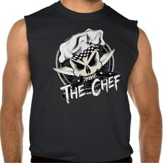 Chef Skull with Crossed Knives Sleeveless T-shirt