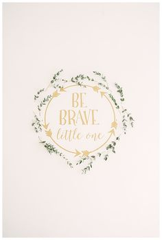 How sweet is this Be Brave Little One sign for baby shower decor? #babyshower