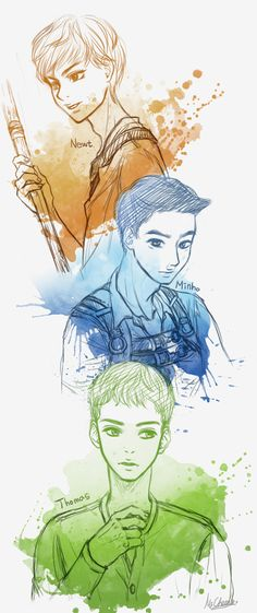 Newt and Mingo and Thomas by MiCheong on deviantART