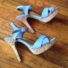 "NWOT cork sandals Never worn! 4"" heel 1"" platform. Fit like a true 7 Rue 21 Shoes Sandals"
