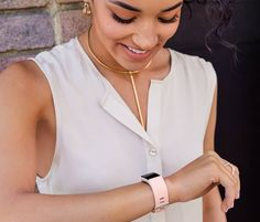 Shop Fitbit Charge 2 Accessories - pink leather band <3