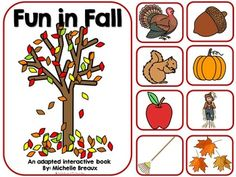 Fun In Fall is an adapted interactive book with a vocabulary and matching theme. This product has all the extras to assure that students have multiple opportunities and hands on activities to explore fall vocabulary while reading a fun pattern book. There is an interactive component on each page to keep students engaged and actively participating in reading.