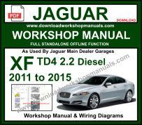 JAGUAR XF WORKSHOP SERVICE REPAIR MANUAL & Wiring Diagrams ... on