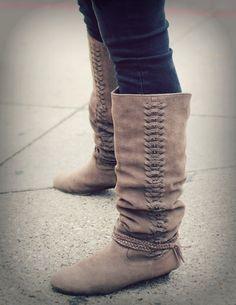 vintage, bohemian boots