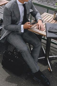 gray suiting | LMX