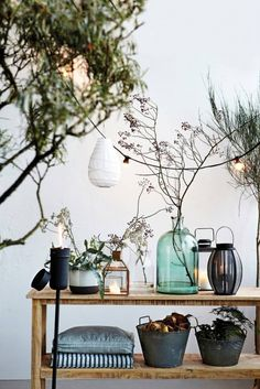 Great styling by House Doctor Garden Deco, House Doctor, Vintage Lamps, Vintage Home Decor, Vintage Industrial, Style Tropical, Deco Nature, Open Air, Home And Living