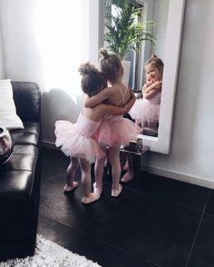 sister ballerinas   little ones   never grow old
