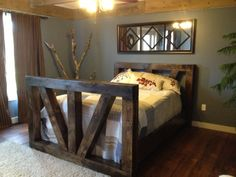 Authentic timber frame queen size bed made by TimberFrameFurniture, $2,800.00