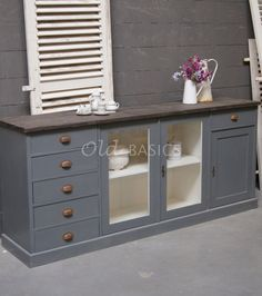 Dressoir Rustique Vitrine | Old BASICS