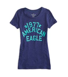 Evening Blue AEO Factory Heritage Graphic T-Shirt