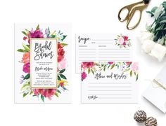 Printable Watercolor Bridal Shower Invitation  par ShopTheFirstLook