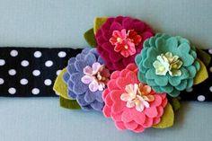 Pretty felt flowers