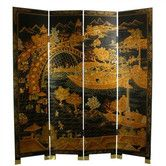 "Found it at Wayfair - 72"" x 64"" Ching Ming Festival 4 Panel Room Divider - 72 x 64"" - 899.00"