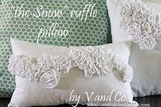 The Snow Ruffle Pillow tutorial, can also be sewn to a t shirt. great site.