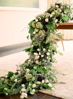 Greenery table runner // scott andrew studio