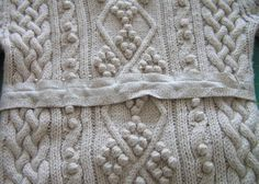 Tip:  can also use 2 rows of stay stitching to prevent sweater from unraveling