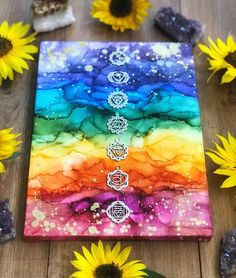 """Amber 🌱 Shop Owner 🦋 on Instagram: """"Good morning!! I absolutely love this liquid chakra artwork from @jessicayoungart 😍😍 . I've placed an order from a new crystal supplier…"""" Chakra Painting, Chakra Art, Yoga Kunst, Spiritual Paintings, Signo Libra, Trippy Painting, Sharpie Art, Alcohol Ink Painting, Yoga Art"""