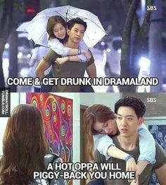 K drama piggyback rides