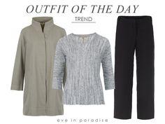 Outfit of the Day: Kurz-Mantel Filippa, 3/4-Pullover Oxana und Hose Iris!