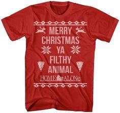 Home Alone Filthy Animal Christmas T-Shirt: Home Alone Mens T-Shirt