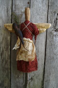 My Primitive ANGEL and the CROW instant by myprimitivesaltbox