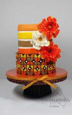 Retro Thanksgiving cake - Cake by curiAUSSIEty custom cakes