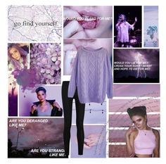"""// You touched me and suddenly I was a lilac sky; but you decided purple just wasn't for you //"" by love-me-and-u ❤ liked on Polyvore featuring art"
