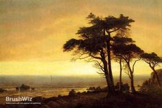 Handmade Oil Painting Reproduction of Albert Bierstadt's California Coast - BrushWiz.com. Choose from over 100,000 Paintings ranging from Old Masters to Contemporary Art.