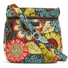 Vera Bradley Petite Double Zip Hipster (1.405 RUB) ❤ liked on Polyvore featuring bags, flower shower, double zip bag, double zipper bag, zip crossbody bag, vera bradley crossbody and flower bag