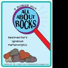 This is a 77 page unit that will teach your students about IGNEOUS, SEDIMENTARY, and METAMORPHIC rocks! This Unit Includes:A Scientist Rock Not...
