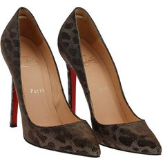 Christian Louboutin Leopard Lame Pigalle 120 Pumps Size 37 (1.485 BRL) ❤ liked on Polyvore featuring shoes, christian louboutin shoes, christian louboutin, leopard shoes and leopard print shoes