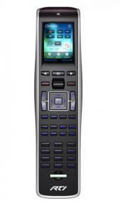 RTI's t2 CS universal controller offers the look of an app with touch screen controls in a remote
