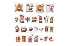Coffee Icons ☕ by almigor on @creativemarket