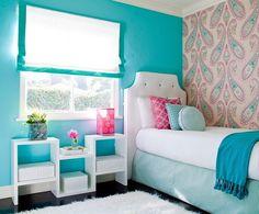 dormitor turcoaz pentru fetite